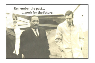 'With Dr. Martin Luther King Jr' No.3 -- Near Grinnell (IA) October 29, 1967  LS RC