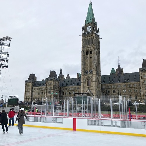 Canada 150 rink on Parliament Hill, Ottawa