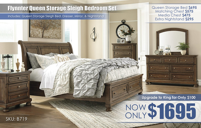 Flynnter Queen Storage Bedroom Set B719-31-36-46-78-76-99-92