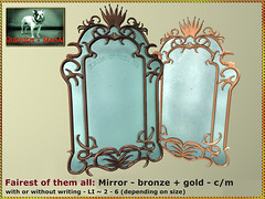Bliensen - Fairest of them All - Mirror - Bronze & Gold