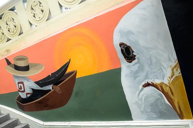 Mural El canto del Chilalo: memoria de la costa norte