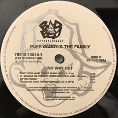 PUFF DADDY & THE FAMILY:NO WAY OUT(LABEL SIDE-B)