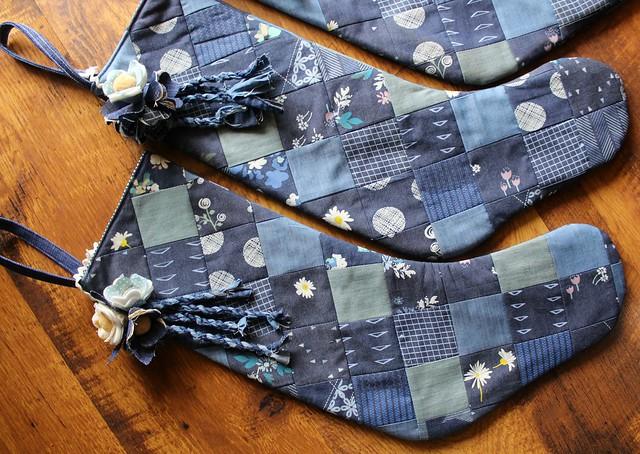 Denim Patchwork Stockings