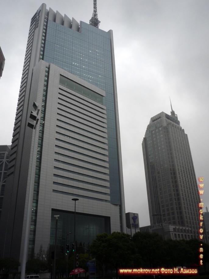 Исторический центр Шанхая в Китае фотозарисовки