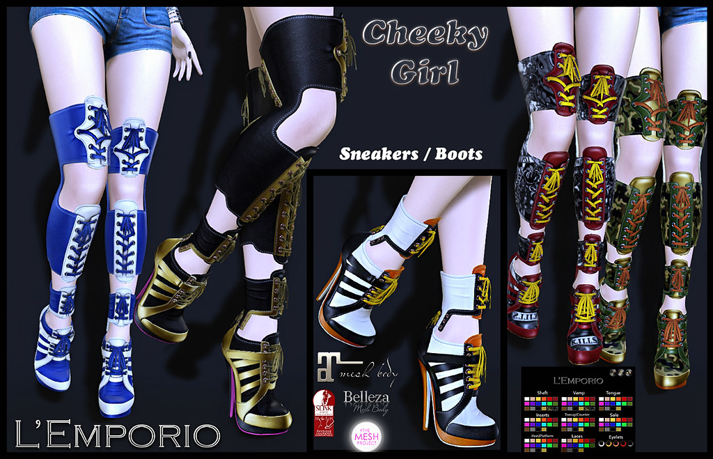 L'Emporio-CheekyGirl-SneakersBoots - TeleportHub.com Live!