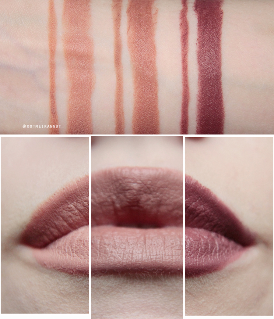 Maybelline Gigi Hadid swatches
