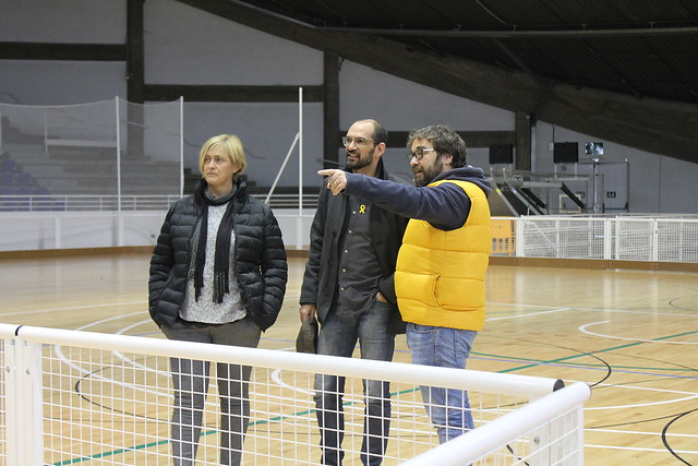 Visita a les obres de millora del Pavelló Municipal d'Esports