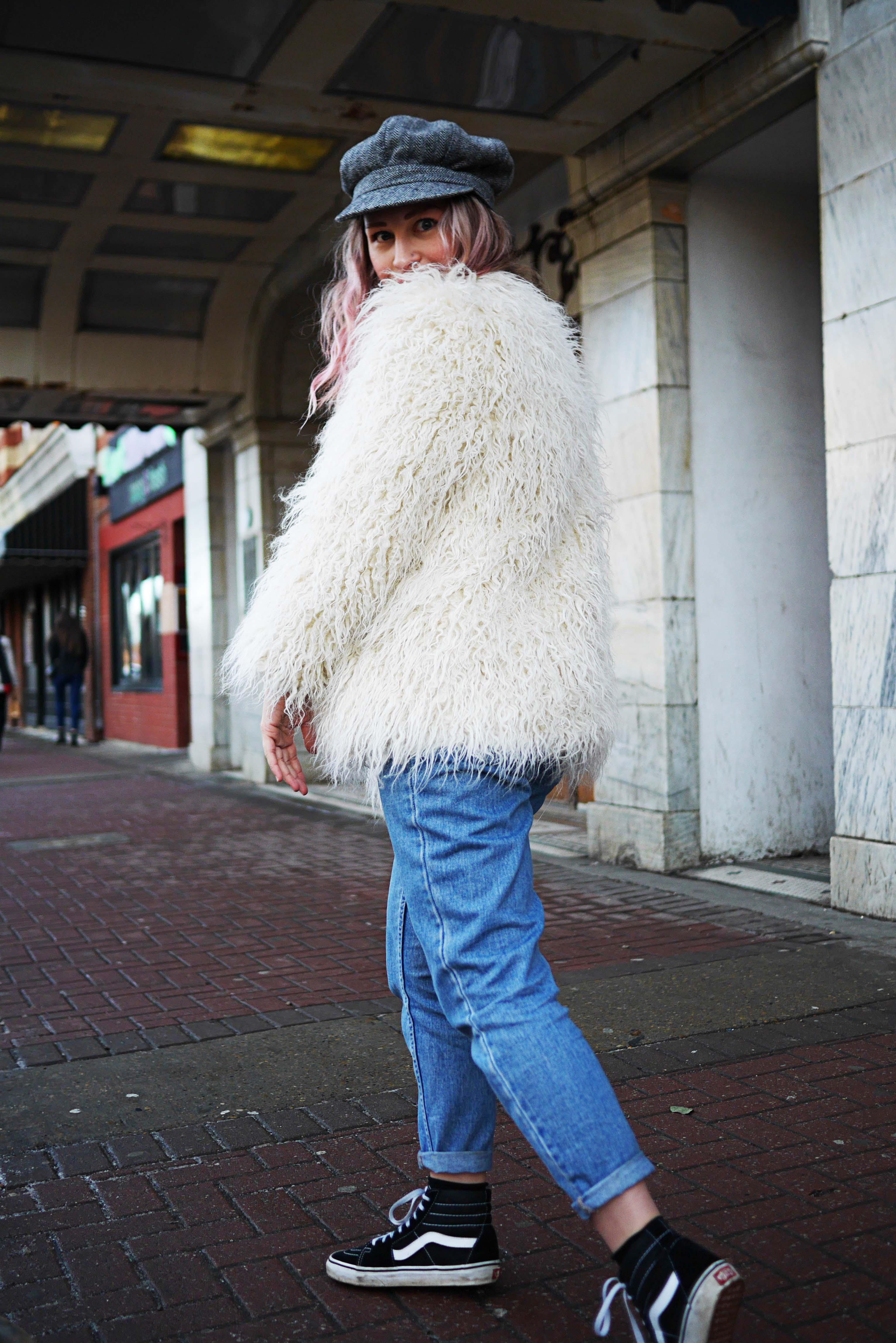 pink-hair-white-yeti-coat-2