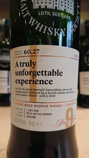 SMWS 60.27 - A truly unforgettable experience
