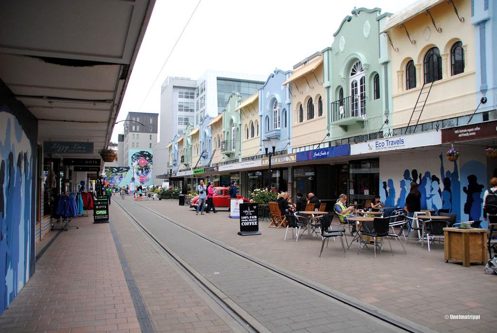 Söpöllä New Regent Streetillä, Christchurch, Uusi-Seelanti