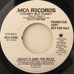 HEAVY D. AND THE BOYZ:CHUNKY BUT FUNKY(LABEL SIDE-A)