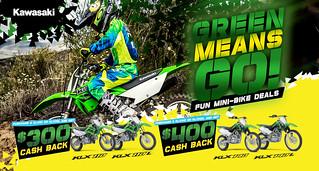 Green Means Go! Fun Mini-Bike Deals