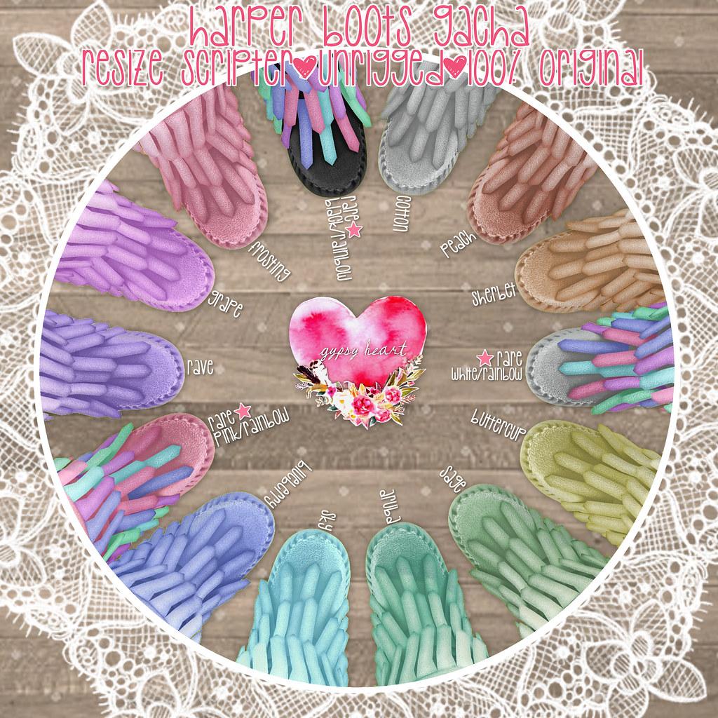 .gypsy heart. Harper Boots Gacha - AD - Pastel Tones