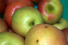 Green And Red Apples.