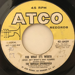 THE BUFFALO SPRINGFIELD:FOR WHAT IT'S WORTH(LABEL SIDE-A)