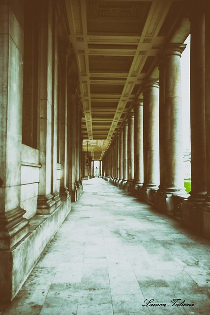 Pillared covered walkway - Creative Edit