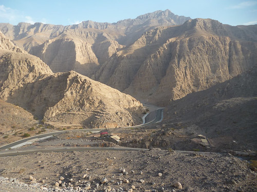 The road up to Jebel Jais