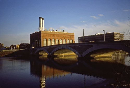 Cambridge Power Plant Western Ave - Kodachrome - 1987