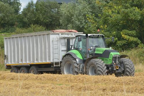 Deutz Fahr Agrotron TTV 630 Tractor with a Beresford Grain Trailer
