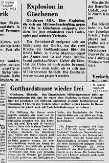 Göschenen - Die Explosion am 11. Juli 1973