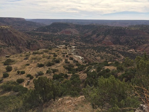 Palo Duro canyon view from welcom centre