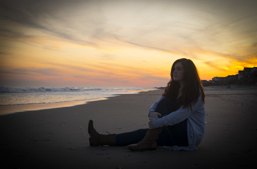 sunset sunrise beach sand surf topsail clouds
