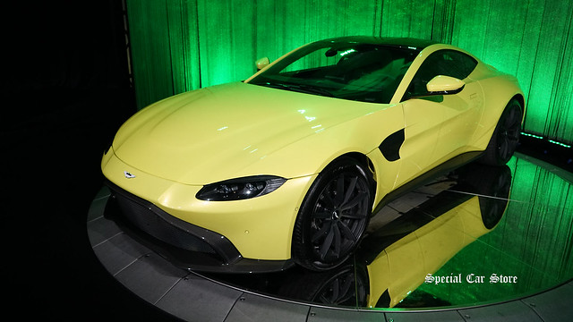 2019 Aston Martin Vantage with factory Lime Essence Paint