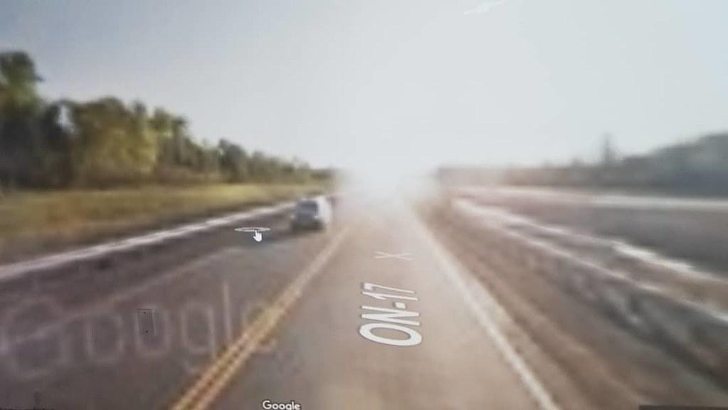 Riding through watermarks and halos. #ridingthroughwalls #xcanadabike #googlestreetview #ontario #thunderbay
