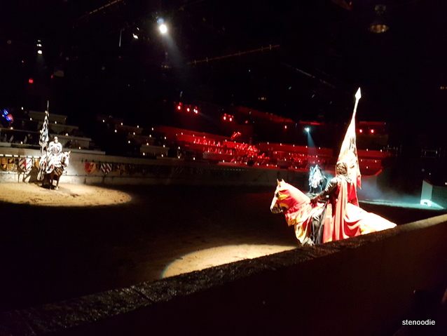 Medieval Times red and yellow knight