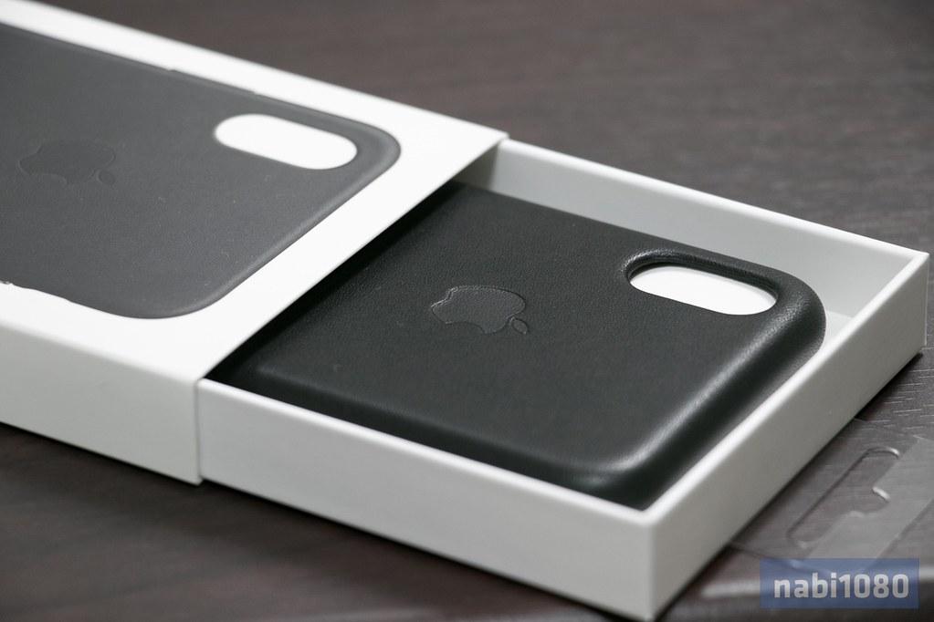 iPhone X 純正レザーケース02