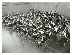 Avondale Technical High School, Auckland - Massed orchestra of about 140, all taught at the school