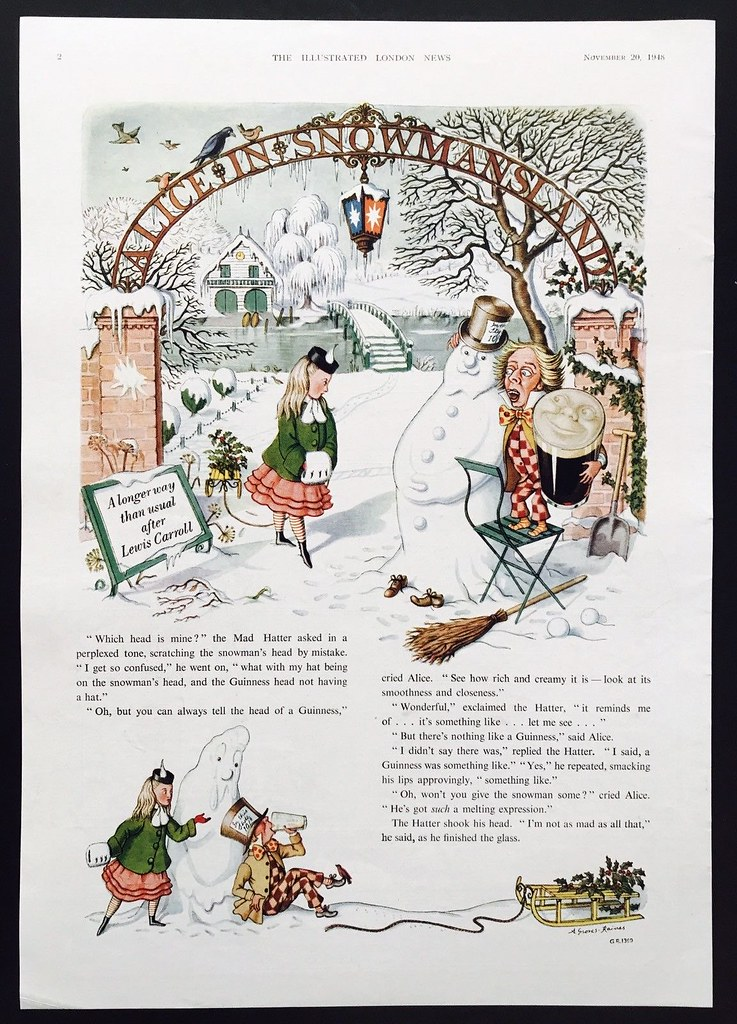 Guinness-1948-alice-in-snowland