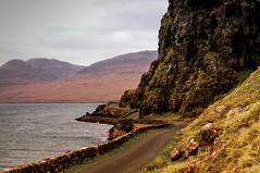 Crazy wee road around the cliff