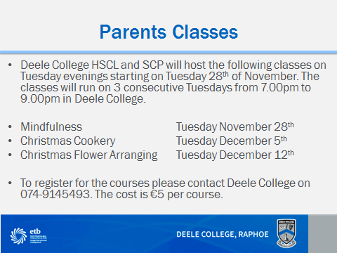 Parents Courses