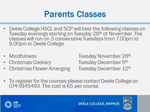 Parents Courses