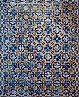 Pattern tiles panel (Lisbon, c.1590-1620) - Provenance: Unknown