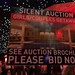 Silent Auction advertising at Christmas bash