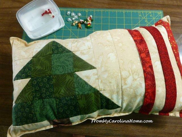 Christmas Pillow at From My Carolina Home