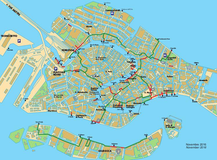 Comune di Venezia mappa passerelle