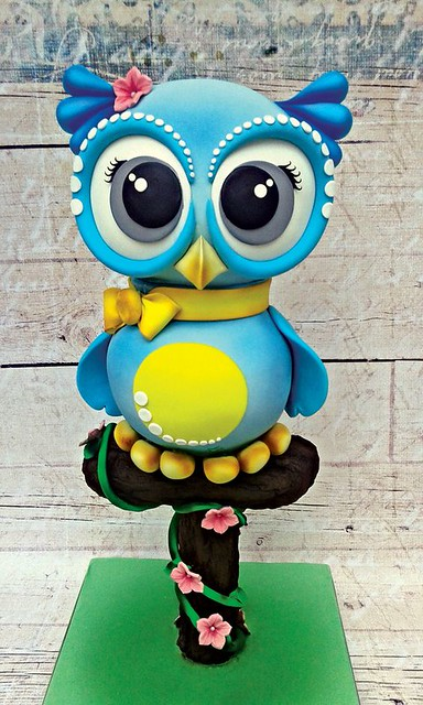 Owl 3D Aerial Cake - Photo via Facebook