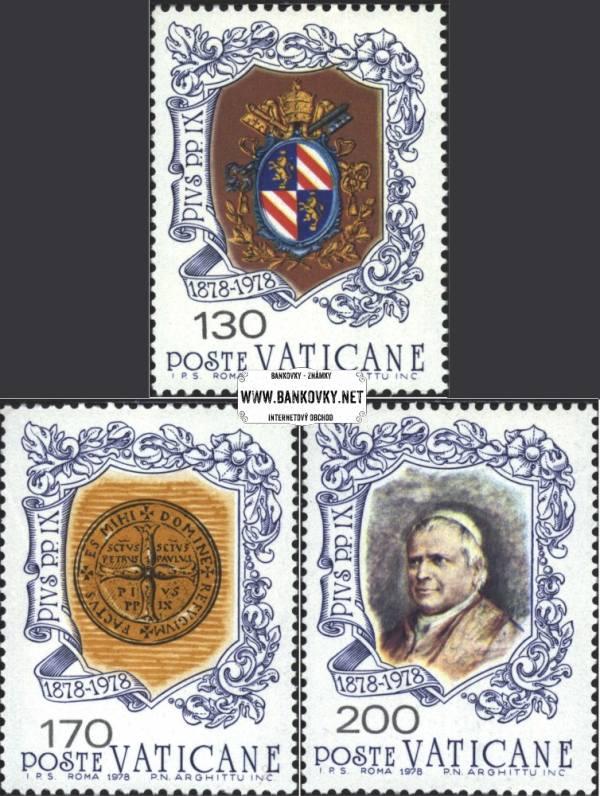 Známky Vatikán 1978 Pápež Pius IX., nerazítkovaná séria MNH