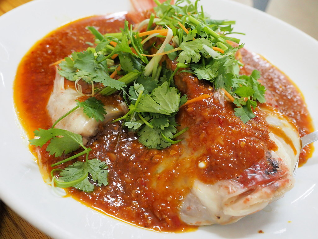 Steamed Red Tilapia with Restoran Wah Xing Ipoh's special sauce.