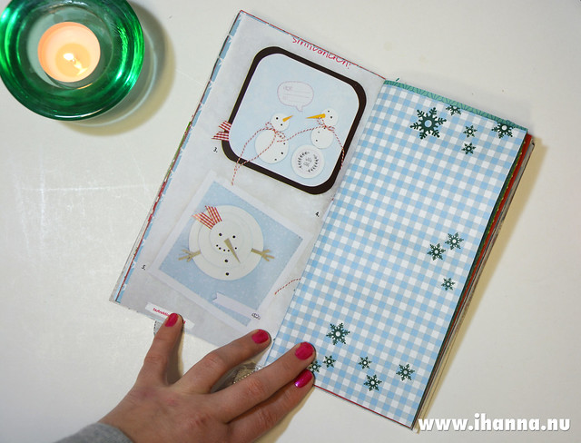 Spread in Christmas Junk Journal no 1 hand made by iHanna and its now sold #christmasjournal