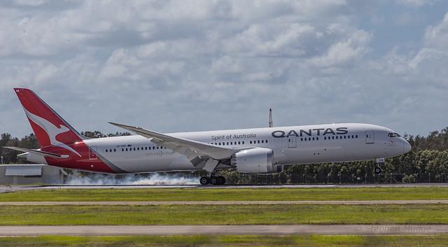 The new QANTAS Dreamliner