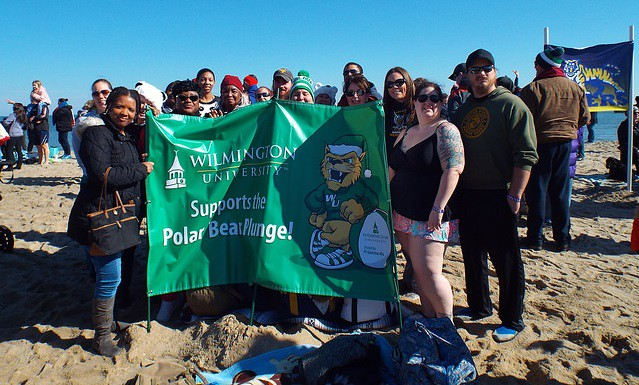 February 2018 marks the 8th year the WilmU chapter of the Pi Gamma Mu International Honor Society will represent Wilmington University as a team at the annual Polar Bear Plunge in support of Special Olympics Delaware.