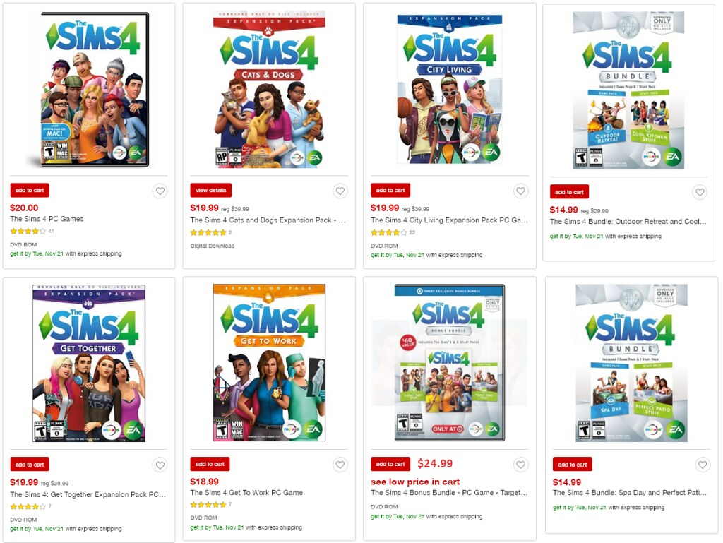 Black friday sale save 50 on sims 4 expansions for Local online sales websites