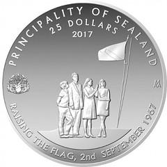 Sealand 50th anniversary coin obverse