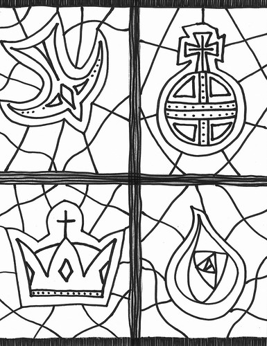 Christ is King coloring page
