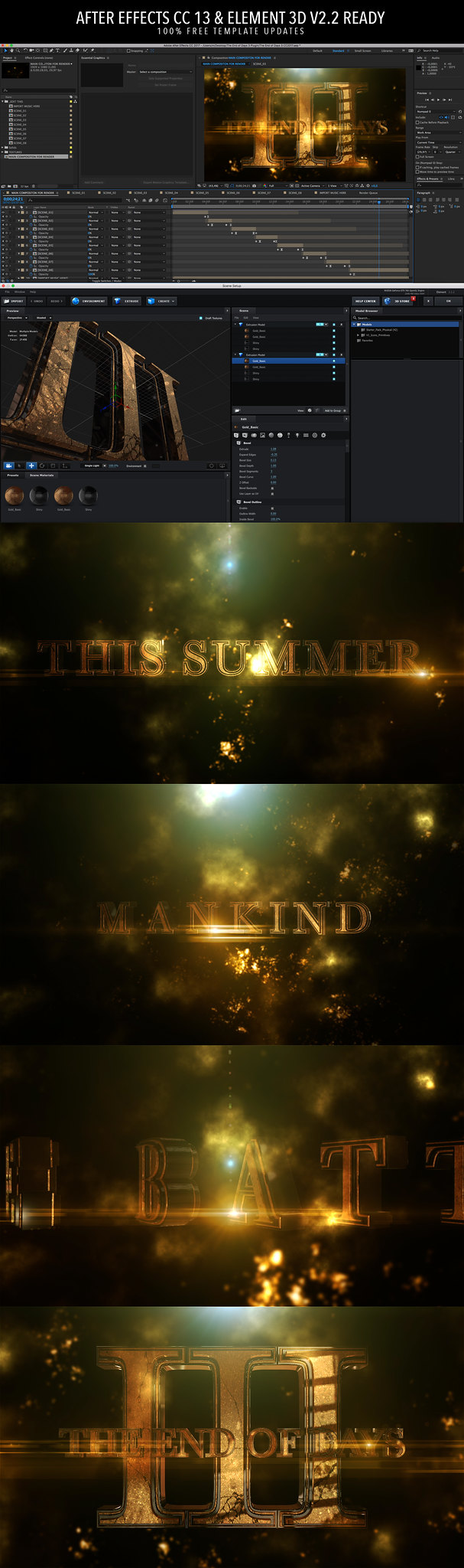 Element 3D After Effects Template End Of Days 3 V2