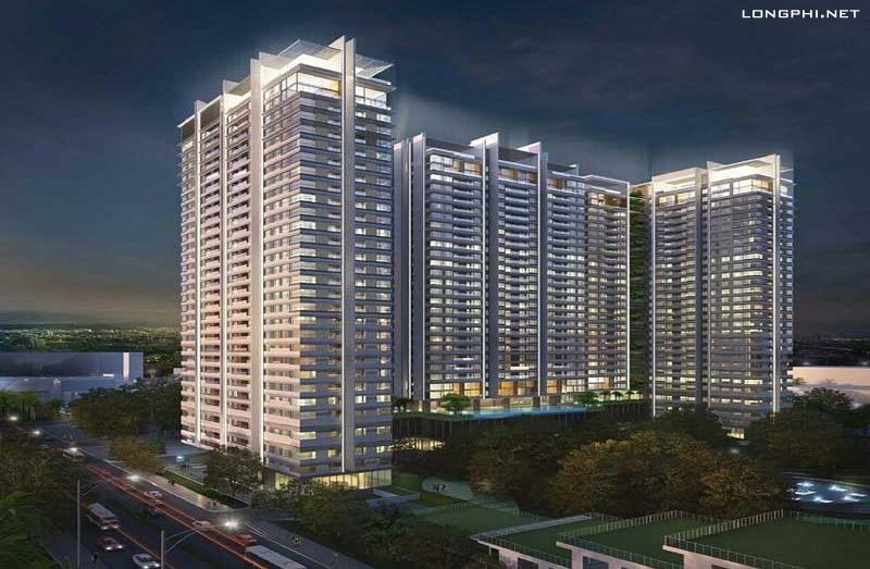Phối cảnh tổng thể về đêm dự án căn hộ Kingdom 101 quận 10.
